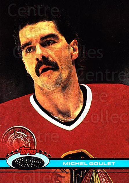 1991-92 Stadium Club #66 Michel Goulet<br/>5 In Stock - $1.00 each - <a href=https://centericecollectibles.foxycart.com/cart?name=1991-92%20Stadium%20Club%20%2366%20Michel%20Goulet...&quantity_max=5&price=$1.00&code=259385 class=foxycart> Buy it now! </a>