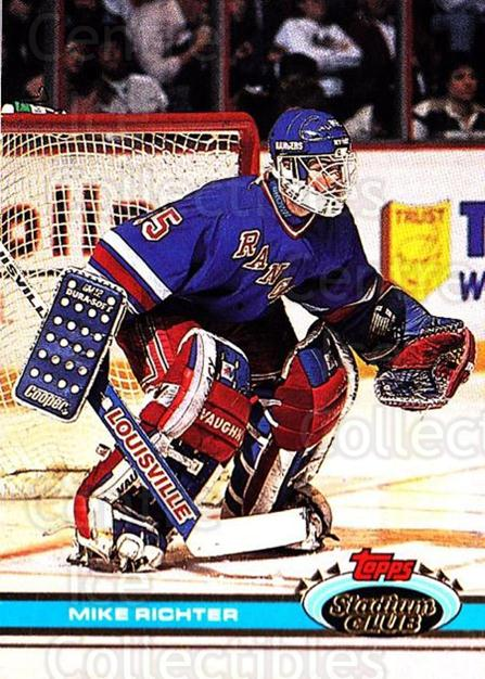 1991-92 Stadium Club #92 Mike Richter<br/>2 In Stock - $1.00 each - <a href=https://centericecollectibles.foxycart.com/cart?name=1991-92%20Stadium%20Club%20%2392%20Mike%20Richter...&quantity_max=2&price=$1.00&code=259411 class=foxycart> Buy it now! </a>