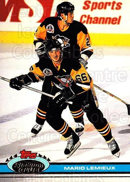 1991-92 Stadium Club #174 Mario Lemieux<br/>15 In Stock - $2.00 each - <a href=https://centericecollectibles.foxycart.com/cart?name=1991-92%20Stadium%20Club%20%23174%20Mario%20Lemieux...&price=$2.00&code=259493 class=foxycart> Buy it now! </a>
