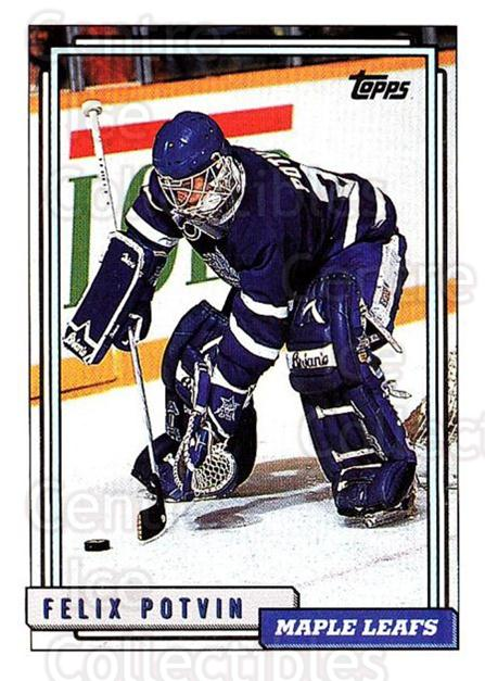 1992-93 Topps #3 Felix Potvin<br/>1 In Stock - $1.00 each - <a href=https://centericecollectibles.foxycart.com/cart?name=1992-93%20Topps%20%233%20Felix%20Potvin...&quantity_max=1&price=$1.00&code=260592 class=foxycart> Buy it now! </a>