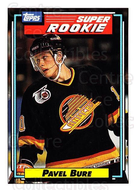 1992-93 Topps #8 Pavel Bure<br/>2 In Stock - $1.00 each - <a href=https://centericecollectibles.foxycart.com/cart?name=1992-93%20Topps%20%238%20Pavel%20Bure...&price=$1.00&code=260597 class=foxycart> Buy it now! </a>