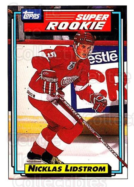 1992-93 Topps #9 Nicklas Lidstrom<br/>3 In Stock - $1.00 each - <a href=https://centericecollectibles.foxycart.com/cart?name=1992-93%20Topps%20%239%20Nicklas%20Lidstro...&price=$1.00&code=260598 class=foxycart> Buy it now! </a>