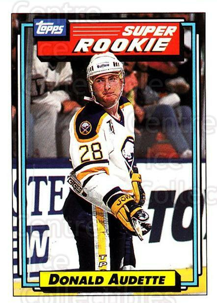 1992-93 Topps #12 Donald Audette<br/>4 In Stock - $1.00 each - <a href=https://centericecollectibles.foxycart.com/cart?name=1992-93%20Topps%20%2312%20Donald%20Audette...&price=$1.00&code=260601 class=foxycart> Buy it now! </a>