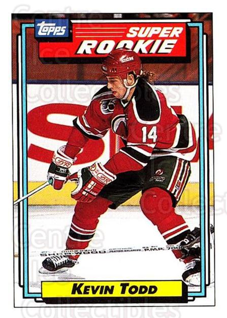 1992-93 Topps #15 Kevin Todd<br/>4 In Stock - $1.00 each - <a href=https://centericecollectibles.foxycart.com/cart?name=1992-93%20Topps%20%2315%20Kevin%20Todd...&price=$1.00&code=260604 class=foxycart> Buy it now! </a>