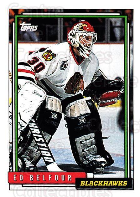 1992-93 Topps #22 Ed Belfour<br/>4 In Stock - $1.00 each - <a href=https://centericecollectibles.foxycart.com/cart?name=1992-93%20Topps%20%2322%20Ed%20Belfour...&price=$1.00&code=260611 class=foxycart> Buy it now! </a>