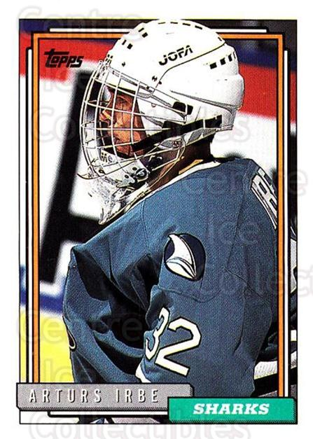 1992-93 Topps #25 Arturs Irbe<br/>3 In Stock - $1.00 each - <a href=https://centericecollectibles.foxycart.com/cart?name=1992-93%20Topps%20%2325%20Arturs%20Irbe...&price=$1.00&code=260614 class=foxycart> Buy it now! </a>