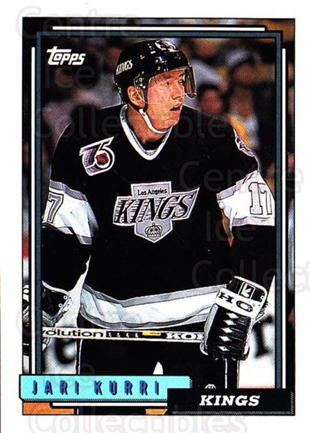 1992-93 Topps #51 Jari Kurri<br/>2 In Stock - $1.00 each - <a href=https://centericecollectibles.foxycart.com/cart?name=1992-93%20Topps%20%2351%20Jari%20Kurri...&price=$1.00&code=260640 class=foxycart> Buy it now! </a>