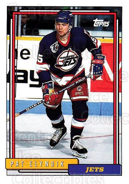 1992-93 Topps #56 Pat Elynuik<br/>5 In Stock - $1.00 each - <a href=https://centericecollectibles.foxycart.com/cart?name=1992-93%20Topps%20%2356%20Pat%20Elynuik...&price=$1.00&code=260645 class=foxycart> Buy it now! </a>