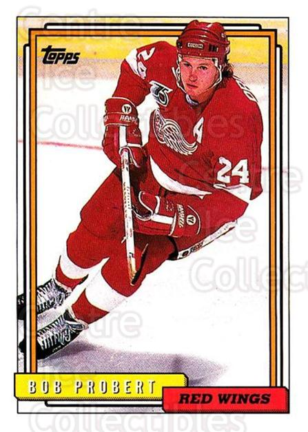 1992-93 Topps #63 Bob Probert<br/>4 In Stock - $1.00 each - <a href=https://centericecollectibles.foxycart.com/cart?name=1992-93%20Topps%20%2363%20Bob%20Probert...&price=$1.00&code=260652 class=foxycart> Buy it now! </a>