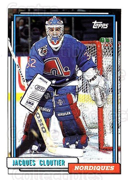 1992-93 Topps #66 Jacques Cloutier<br/>4 In Stock - $1.00 each - <a href=https://centericecollectibles.foxycart.com/cart?name=1992-93%20Topps%20%2366%20Jacques%20Cloutie...&price=$1.00&code=260655 class=foxycart> Buy it now! </a>