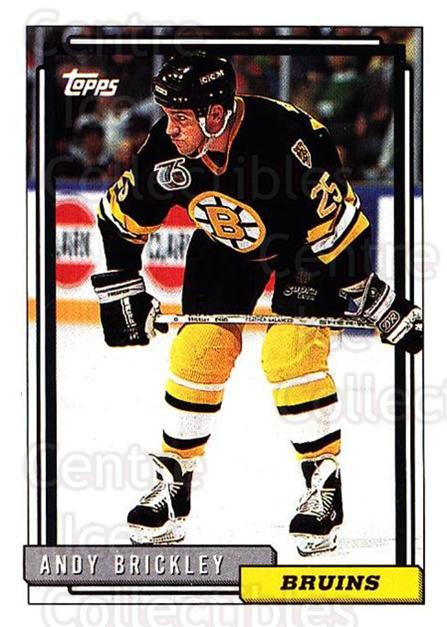 1992-93 Topps #109 Andy Brickley<br/>3 In Stock - $1.00 each - <a href=https://centericecollectibles.foxycart.com/cart?name=1992-93%20Topps%20%23109%20Andy%20Brickley...&price=$1.00&code=260698 class=foxycart> Buy it now! </a>