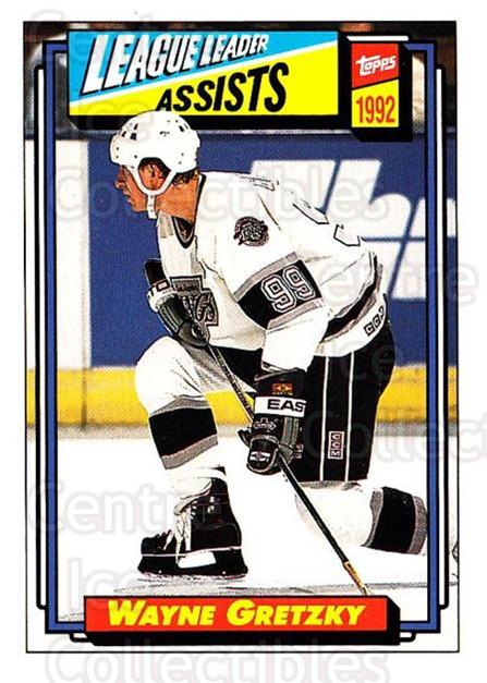 1992-93 Topps #123 Wayne Gretzky<br/>2 In Stock - $1.00 each - <a href=https://centericecollectibles.foxycart.com/cart?name=1992-93%20Topps%20%23123%20Wayne%20Gretzky...&price=$1.00&code=260712 class=foxycart> Buy it now! </a>