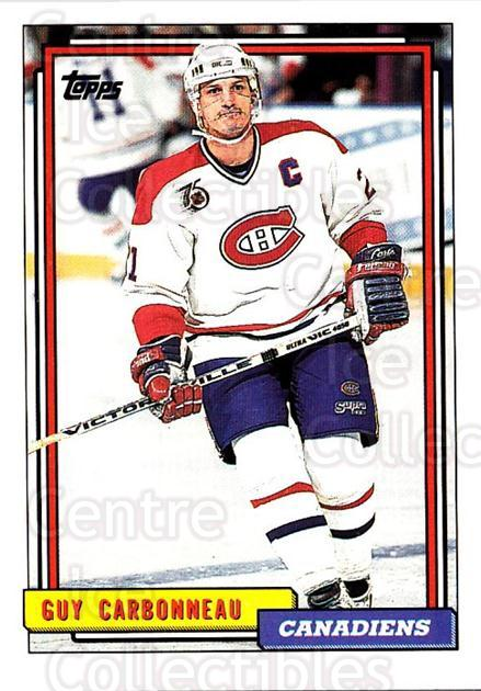 1992-93 Topps #125 Guy Carbonneau<br/>5 In Stock - $1.00 each - <a href=https://centericecollectibles.foxycart.com/cart?name=1992-93%20Topps%20%23125%20Guy%20Carbonneau...&price=$1.00&code=260714 class=foxycart> Buy it now! </a>