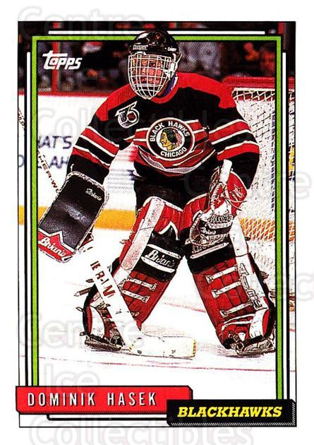 1992-93 Topps #136 Dominik Hasek<br/>4 In Stock - $1.00 each - <a href=https://centericecollectibles.foxycart.com/cart?name=1992-93%20Topps%20%23136%20Dominik%20Hasek...&price=$1.00&code=260725 class=foxycart> Buy it now! </a>