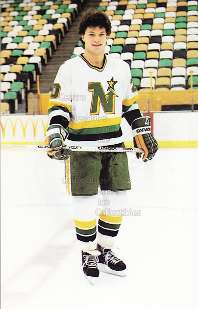 1984-85 Minnesota North Stars Postcards #6 Dino Ciccarelli<br/>1 In Stock - $3.00 each - <a href=https://centericecollectibles.foxycart.com/cart?name=1984-85%20Minnesota%20North%20Stars%20Postcards%20%236%20Dino%20Ciccarelli...&quantity_max=1&price=$3.00&code=26077 class=foxycart> Buy it now! </a>