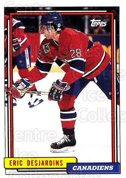 1992-93 Topps #192 Eric Desjardins<br/>5 In Stock - $1.00 each - <a href=https://centericecollectibles.foxycart.com/cart?name=1992-93%20Topps%20%23192%20Eric%20Desjardins...&price=$1.00&code=260781 class=foxycart> Buy it now! </a>