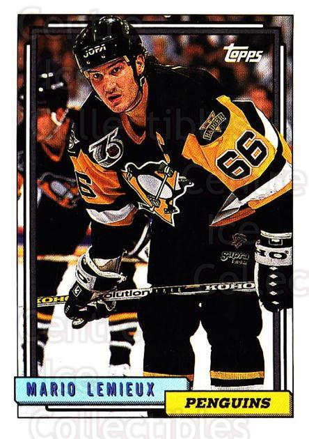 1992-93 Topps #212 Mario Lemieux<br/>1 In Stock - $2.00 each - <a href=https://centericecollectibles.foxycart.com/cart?name=1992-93%20Topps%20%23212%20Mario%20Lemieux...&price=$2.00&code=260801 class=foxycart> Buy it now! </a>