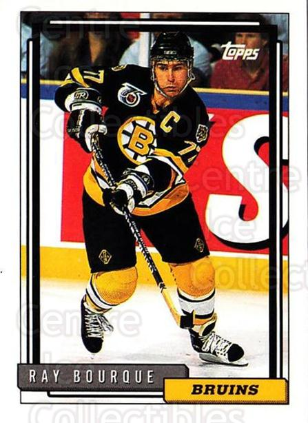1992-93 Topps #221 Ray Bourque<br/>5 In Stock - $1.00 each - <a href=https://centericecollectibles.foxycart.com/cart?name=1992-93%20Topps%20%23221%20Ray%20Bourque...&price=$1.00&code=260810 class=foxycart> Buy it now! </a>