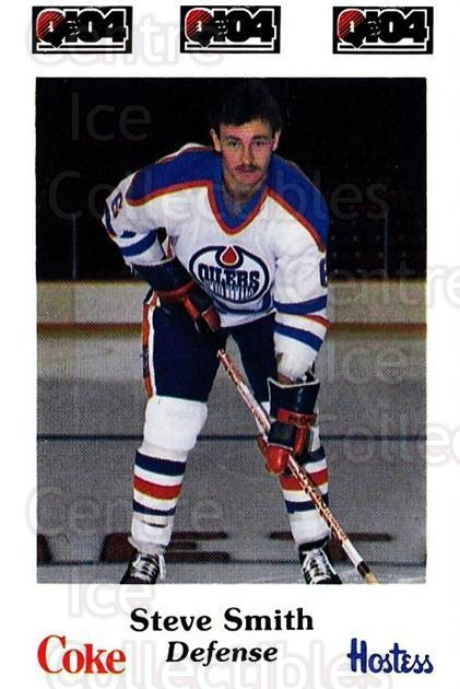 1984-85 Nova Scotia Oilers #11 Steve Smith<br/>6 In Stock - $3.00 each - <a href=https://centericecollectibles.foxycart.com/cart?name=1984-85%20Nova%20Scotia%20Oilers%20%2311%20Steve%20Smith...&quantity_max=6&price=$3.00&code=26081 class=foxycart> Buy it now! </a>