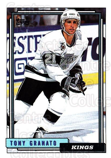 1992-93 Topps #242 Tony Granato<br/>5 In Stock - $1.00 each - <a href=https://centericecollectibles.foxycart.com/cart?name=1992-93%20Topps%20%23242%20Tony%20Granato...&price=$1.00&code=260831 class=foxycart> Buy it now! </a>