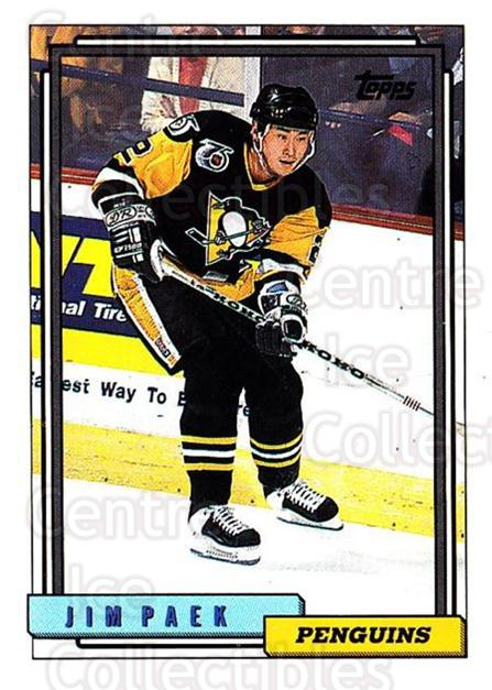 1992-93 Topps #243 Jim Paek<br/>5 In Stock - $1.00 each - <a href=https://centericecollectibles.foxycart.com/cart?name=1992-93%20Topps%20%23243%20Jim%20Paek...&price=$1.00&code=260832 class=foxycart> Buy it now! </a>