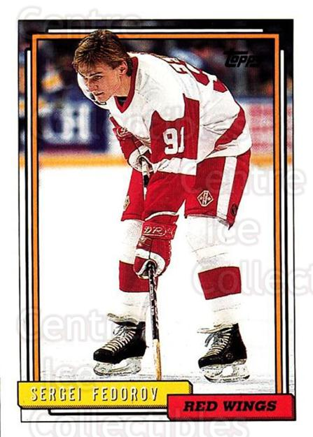 1992-93 Topps #252 Sergei Fedorov<br/>3 In Stock - $1.00 each - <a href=https://centericecollectibles.foxycart.com/cart?name=1992-93%20Topps%20%23252%20Sergei%20Fedorov...&price=$1.00&code=260841 class=foxycart> Buy it now! </a>