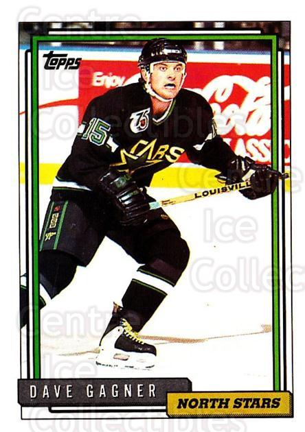 1992-93 Topps #254 Dave Gagner<br/>5 In Stock - $1.00 each - <a href=https://centericecollectibles.foxycart.com/cart?name=1992-93%20Topps%20%23254%20Dave%20Gagner...&price=$1.00&code=260843 class=foxycart> Buy it now! </a>