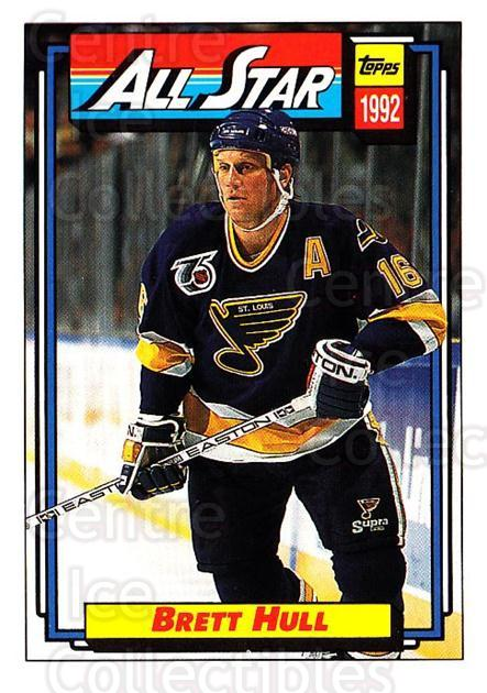 1992-93 Topps #260 Brett Hull<br/>4 In Stock - $1.00 each - <a href=https://centericecollectibles.foxycart.com/cart?name=1992-93%20Topps%20%23260%20Brett%20Hull...&price=$1.00&code=260849 class=foxycart> Buy it now! </a>