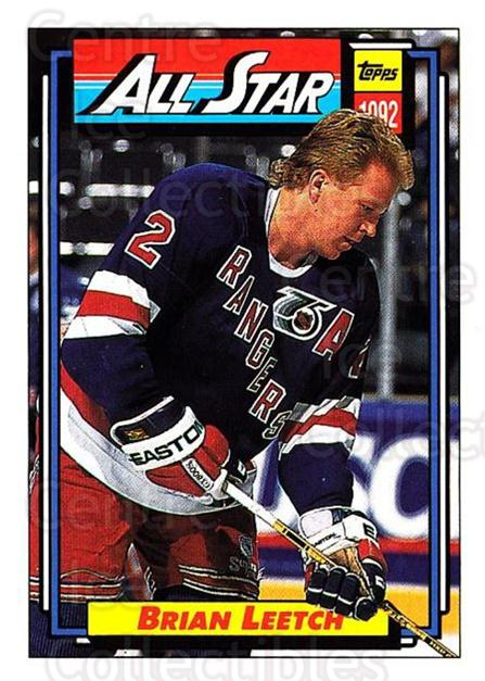 1992-93 Topps #261 Brian Leetch<br/>4 In Stock - $1.00 each - <a href=https://centericecollectibles.foxycart.com/cart?name=1992-93%20Topps%20%23261%20Brian%20Leetch...&price=$1.00&code=260850 class=foxycart> Buy it now! </a>