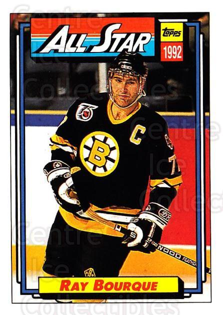1992-93 Topps #262 Ray Bourque<br/>5 In Stock - $1.00 each - <a href=https://centericecollectibles.foxycart.com/cart?name=1992-93%20Topps%20%23262%20Ray%20Bourque...&price=$1.00&code=260851 class=foxycart> Buy it now! </a>