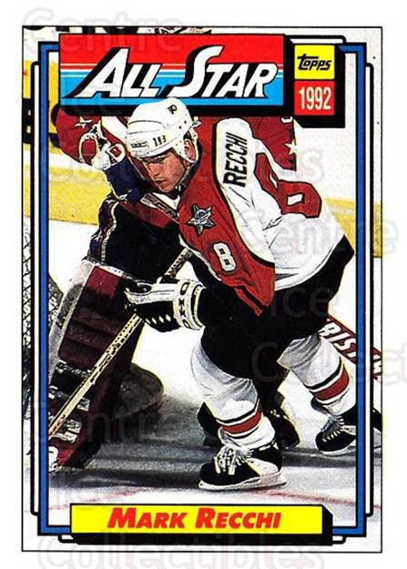 1992-93 Topps #267 Mark Recchi<br/>5 In Stock - $1.00 each - <a href=https://centericecollectibles.foxycart.com/cart?name=1992-93%20Topps%20%23267%20Mark%20Recchi...&price=$1.00&code=260856 class=foxycart> Buy it now! </a>