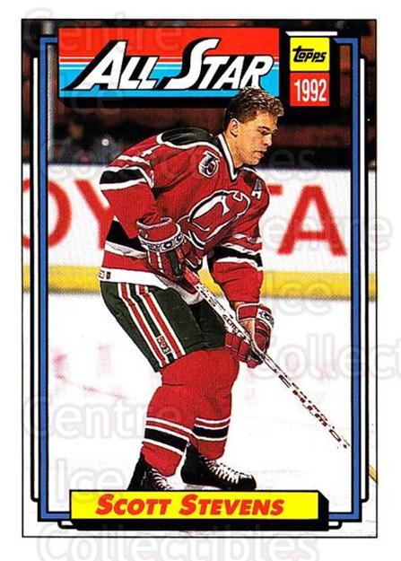 1992-93 Topps #269 Scott Stevens<br/>5 In Stock - $1.00 each - <a href=https://centericecollectibles.foxycart.com/cart?name=1992-93%20Topps%20%23269%20Scott%20Stevens...&price=$1.00&code=260858 class=foxycart> Buy it now! </a>