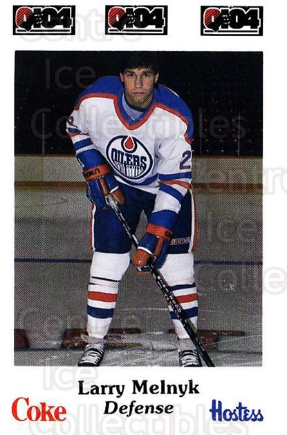 1984-85 Nova Scotia Oilers #15 Larry Melnyk<br/>5 In Stock - $3.00 each - <a href=https://centericecollectibles.foxycart.com/cart?name=1984-85%20Nova%20Scotia%20Oilers%20%2315%20Larry%20Melnyk...&quantity_max=5&price=$3.00&code=26085 class=foxycart> Buy it now! </a>