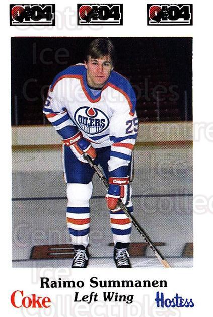 1984-85 Nova Scotia Oilers #16 Raimo Summanen<br/>1 In Stock - $3.00 each - <a href=https://centericecollectibles.foxycart.com/cart?name=1984-85%20Nova%20Scotia%20Oilers%20%2316%20Raimo%20Summanen...&price=$3.00&code=26086 class=foxycart> Buy it now! </a>