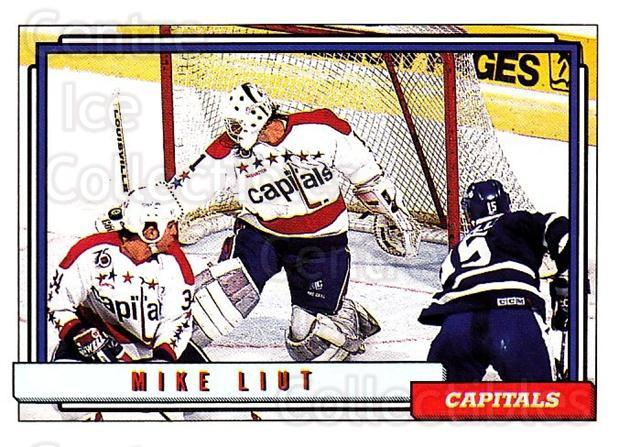 1992-93 Topps #307 Mike Liut<br/>5 In Stock - $1.00 each - <a href=https://centericecollectibles.foxycart.com/cart?name=1992-93%20Topps%20%23307%20Mike%20Liut...&price=$1.00&code=260896 class=foxycart> Buy it now! </a>