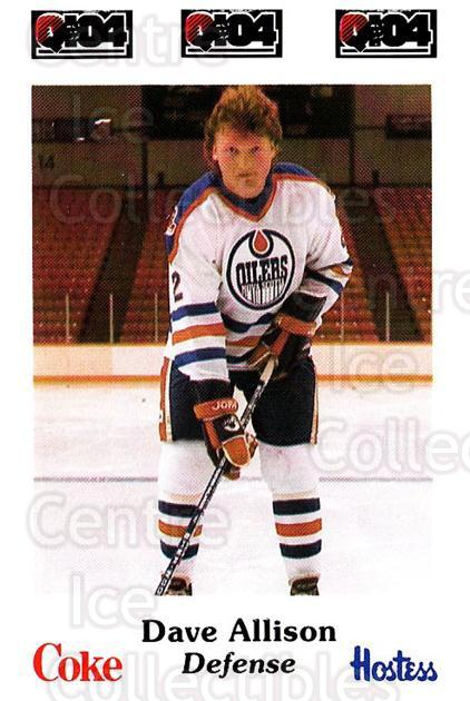 1984-85 Nova Scotia Oilers #2 Dave Allison<br/>5 In Stock - $3.00 each - <a href=https://centericecollectibles.foxycart.com/cart?name=1984-85%20Nova%20Scotia%20Oilers%20%232%20Dave%20Allison...&quantity_max=5&price=$3.00&code=26089 class=foxycart> Buy it now! </a>