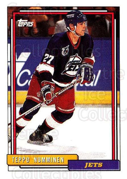 1992-93 Topps #339 Teppo Numminen<br/>5 In Stock - $1.00 each - <a href=https://centericecollectibles.foxycart.com/cart?name=1992-93%20Topps%20%23339%20Teppo%20Numminen...&price=$1.00&code=260928 class=foxycart> Buy it now! </a>