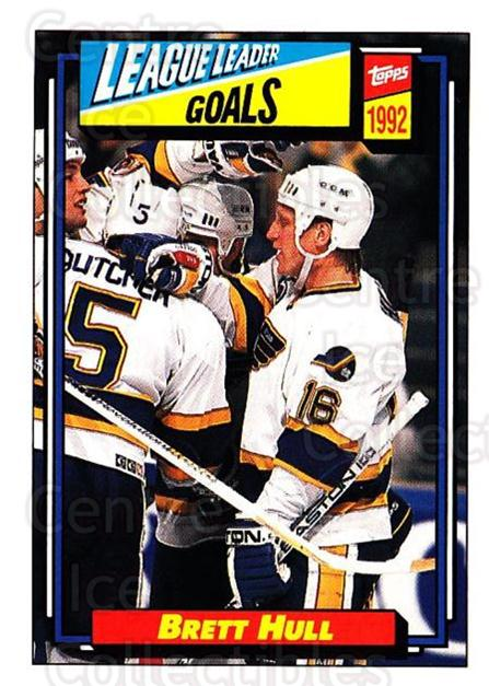 1992-93 Topps #340 Brett Hull<br/>5 In Stock - $1.00 each - <a href=https://centericecollectibles.foxycart.com/cart?name=1992-93%20Topps%20%23340%20Brett%20Hull...&price=$1.00&code=260929 class=foxycart> Buy it now! </a>