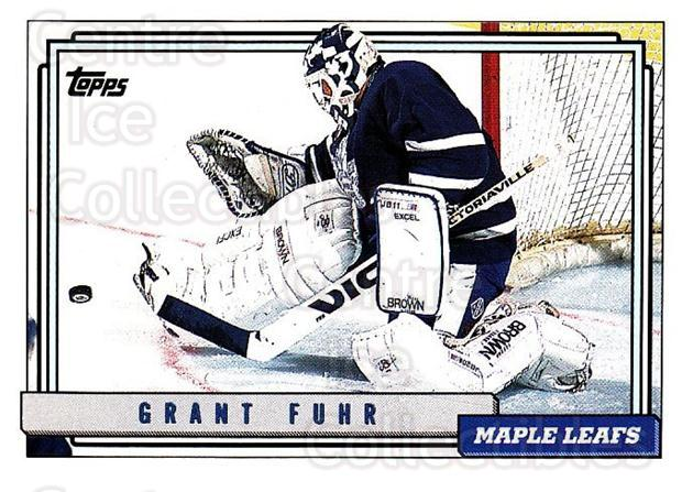 1992-93 Topps #350 Grant Fuhr<br/>4 In Stock - $1.00 each - <a href=https://centericecollectibles.foxycart.com/cart?name=1992-93%20Topps%20%23350%20Grant%20Fuhr...&price=$1.00&code=260939 class=foxycart> Buy it now! </a>