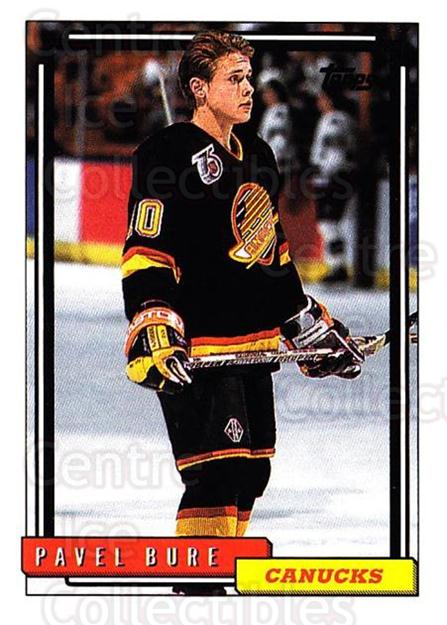 1992-93 Topps #353 Pavel Bure<br/>3 In Stock - $1.00 each - <a href=https://centericecollectibles.foxycart.com/cart?name=1992-93%20Topps%20%23353%20Pavel%20Bure...&price=$1.00&code=260942 class=foxycart> Buy it now! </a>