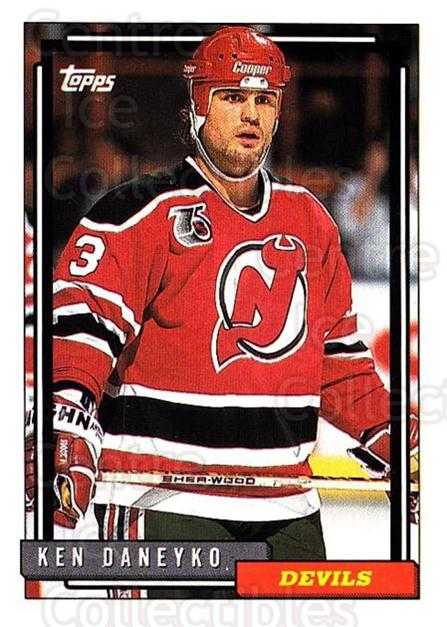 1992-93 Topps #357 Ken Daneyko<br/>5 In Stock - $1.00 each - <a href=https://centericecollectibles.foxycart.com/cart?name=1992-93%20Topps%20%23357%20Ken%20Daneyko...&price=$1.00&code=260946 class=foxycart> Buy it now! </a>