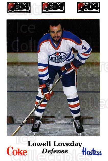 1984-85 Nova Scotia Oilers #4 Lowell Loveday<br/>7 In Stock - $3.00 each - <a href=https://centericecollectibles.foxycart.com/cart?name=1984-85%20Nova%20Scotia%20Oilers%20%234%20Lowell%20Loveday...&quantity_max=7&price=$3.00&code=26098 class=foxycart> Buy it now! </a>