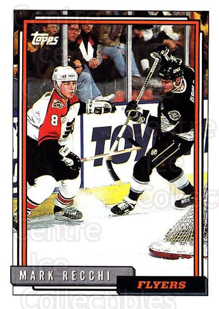 1992-93 Topps #410 Mark Recchi<br/>5 In Stock - $1.00 each - <a href=https://centericecollectibles.foxycart.com/cart?name=1992-93%20Topps%20%23410%20Mark%20Recchi...&quantity_max=5&price=$1.00&code=260999 class=foxycart> Buy it now! </a>