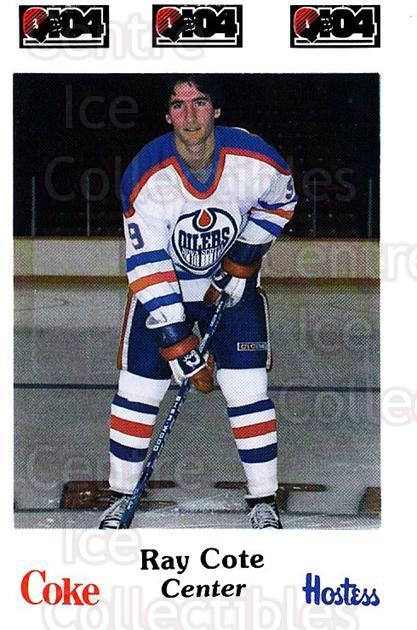 1984-85 Nova Scotia Oilers #6 Ray Cote<br/>3 In Stock - $3.00 each - <a href=https://centericecollectibles.foxycart.com/cart?name=1984-85%20Nova%20Scotia%20Oilers%20%236%20Ray%20Cote...&quantity_max=3&price=$3.00&code=26100 class=foxycart> Buy it now! </a>