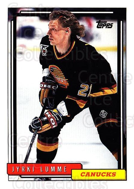 1992-93 Topps #510 Jyrki Lumme<br/>5 In Stock - $1.00 each - <a href=https://centericecollectibles.foxycart.com/cart?name=1992-93%20Topps%20%23510%20Jyrki%20Lumme...&quantity_max=5&price=$1.00&code=261099 class=foxycart> Buy it now! </a>