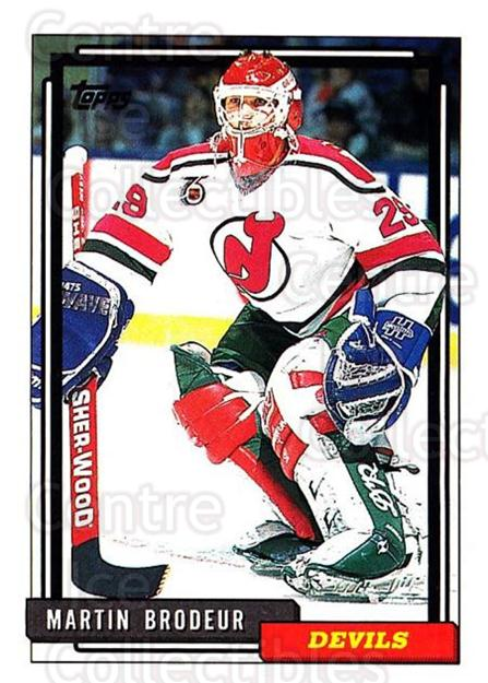 1992-93 Topps #513 Martin Brodeur<br/>2 In Stock - $2.00 each - <a href=https://centericecollectibles.foxycart.com/cart?name=1992-93%20Topps%20%23513%20Martin%20Brodeur...&price=$2.00&code=261102 class=foxycart> Buy it now! </a>