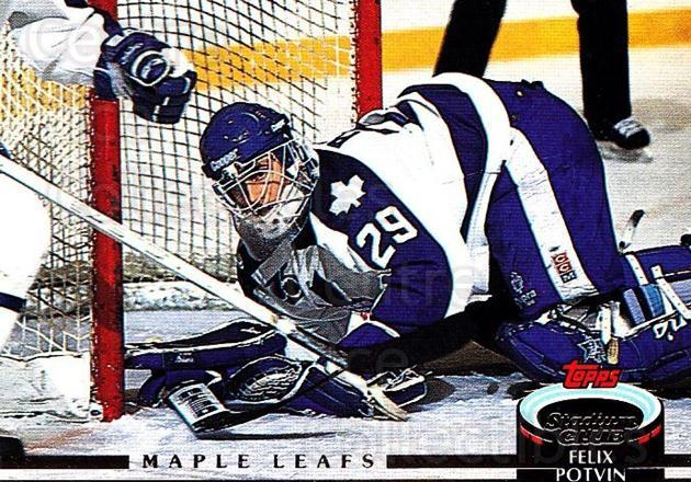 1992-93 Stadium Club #338 Felix Potvin<br/>1 In Stock - $1.00 each - <a href=https://centericecollectibles.foxycart.com/cart?name=1992-93%20Stadium%20Club%20%23338%20Felix%20Potvin...&quantity_max=1&price=$1.00&code=261456 class=foxycart> Buy it now! </a>