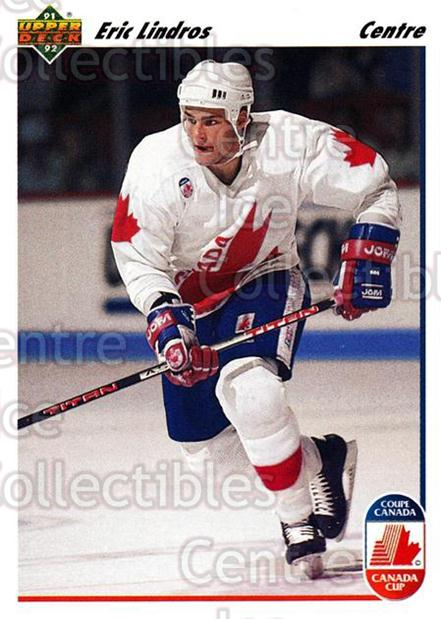 1991-92 Upper Deck French #9 Eric Lindros<br/>11 In Stock - $1.00 each - <a href=https://centericecollectibles.foxycart.com/cart?name=1991-92%20Upper%20Deck%20French%20%239%20Eric%20Lindros...&quantity_max=11&price=$1.00&code=261628 class=foxycart> Buy it now! </a>