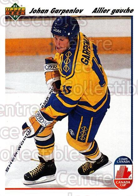 1991-92 Upper Deck French #28 Johan Garpenlov<br/>13 In Stock - $1.00 each - <a href=https://centericecollectibles.foxycart.com/cart?name=1991-92%20Upper%20Deck%20French%20%2328%20Johan%20Garpenlov...&quantity_max=13&price=$1.00&code=261647 class=foxycart> Buy it now! </a>
