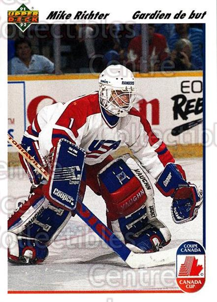 1991-92 Upper Deck French #34 Mike Richter<br/>13 In Stock - $1.00 each - <a href=https://centericecollectibles.foxycart.com/cart?name=1991-92%20Upper%20Deck%20French%20%2334%20Mike%20Richter...&quantity_max=13&price=$1.00&code=261653 class=foxycart> Buy it now! </a>